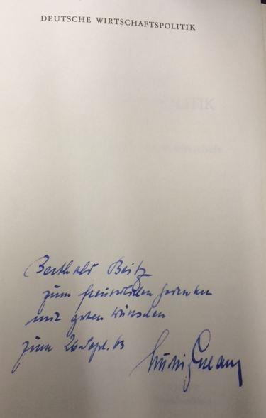 Erhard, Ludwig. Deutsche Wirtschaftspolitik.