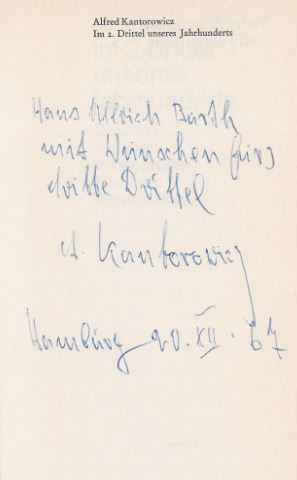 Kantorowicz, Alfred. Im 2.Drittel unseres Jahrhunderts.