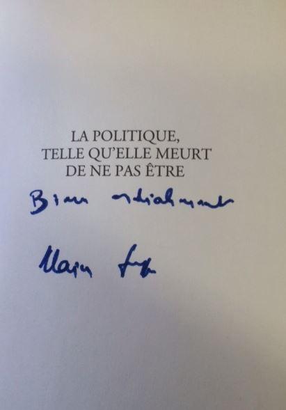 Juppé, Alain und Michel Rocard. La politique telle qu`elle meurt de ne pas être