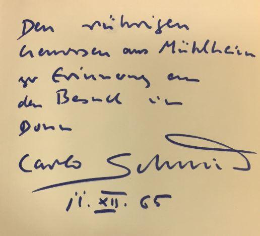 Schmid, Carlo. Politik und Geist.
