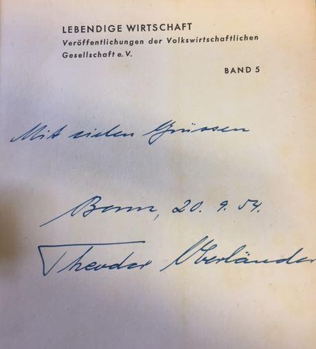 Oberländer, Theodor. Die Überwindung der Deutschen Not.
