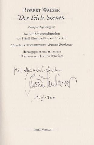 Walser, Robert und Christian (Illustrator) Thanhäuser. Der Teich.