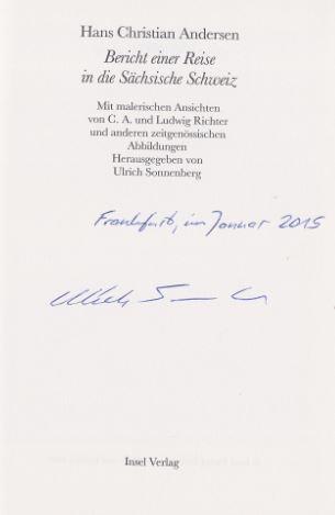 Andersen, Hans Christian und Ulrich (Hrsg.) Sonnenberg. Bericht einer Reise in die Sächsische Schweiz.