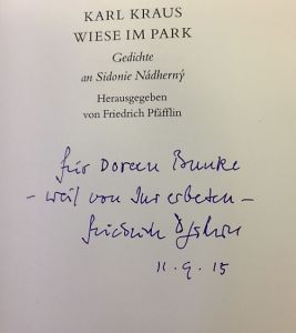 Kraus, Karl und Friedrich (Hrsg.) Pfäfflin. Wiese im Park.