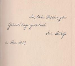 Binding, Rudolf G. Der Opfergang.