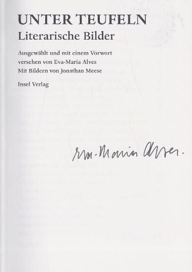 Alves Eva Maria Textauwahl Und Jonathan Illustrator Meese Unter Teufeln