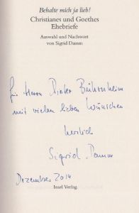 Damm, Sigrid (Hrsg.). Behalte mich ja lieb!
