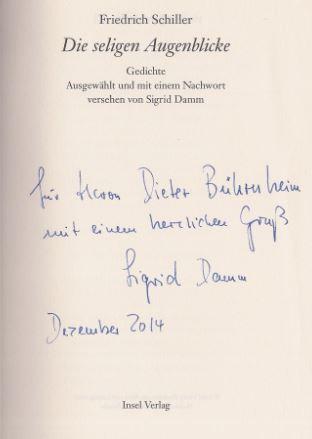 Schiller, Friedrich. Die seligen Augenblicke.
