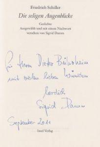 Schiller, Friedrich und Sigrid (Hrsg.) Damm. Die seligen Augenblicke.