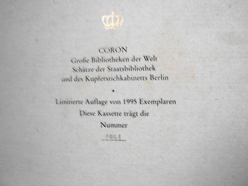 Schätze der Staatsbibliothek und des Kupferstichkabinetts Preussischer Kulturbesitz Berlin.