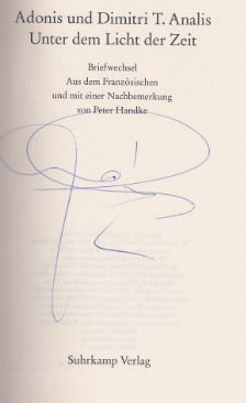 Adonis und Dimitri T. Analis. Unter dem Licht der Zeit.