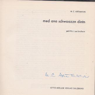 Artmann, Hans C. med ana schwoazzn dintn.