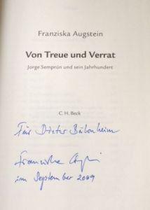 Augstein, Franzsika. Von Treue und Verrat.