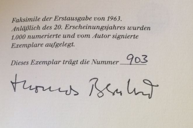 Bernhard, Thomas. Frost. 0