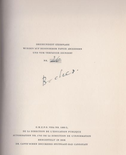 Becher, Johannes R. Lob des Schwabenlandes.