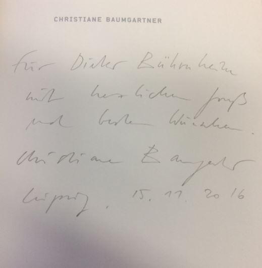 Baumgartner, Christiane. Christiane Baumgartner.