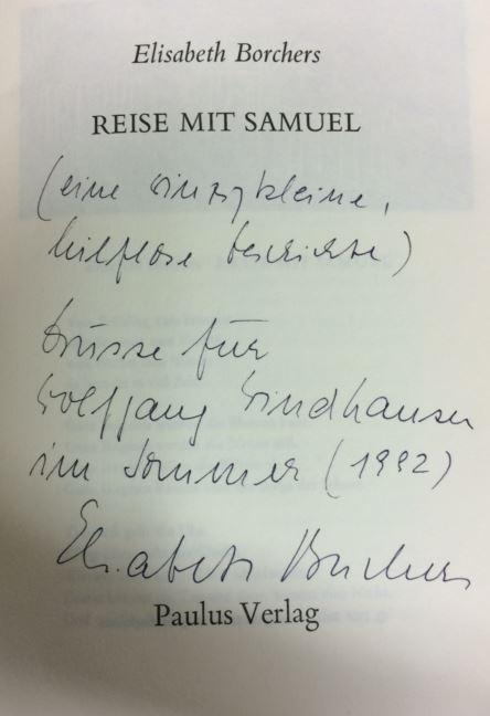 Borchers, Elisabeth. Reise mit Samuel.