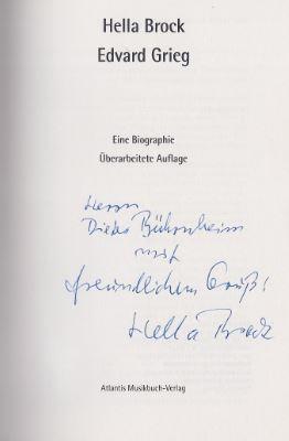 Brock, Hella. Edvard Grieg.
