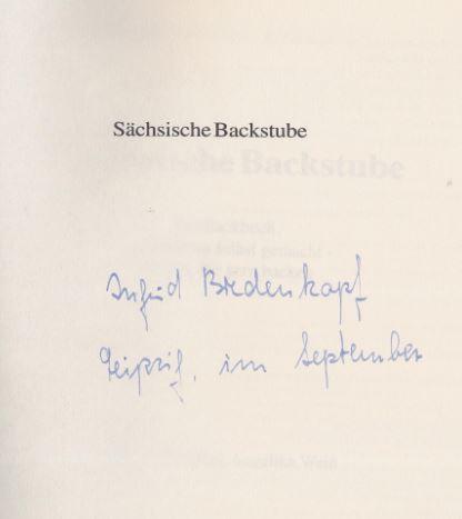 Weiss, Angelika. Sächsische Backstube.