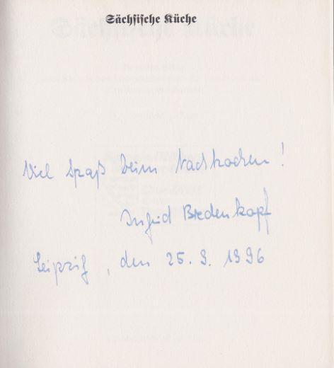 Weiss, Angelika. Sächsische Küche.