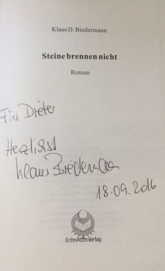 Biedermann, Klaus D. Steine brennen nicht