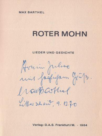 Barthel, Max. Roter Mohn.
