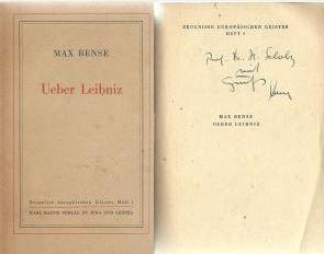 Bense, Max. Ueber Leibniz.