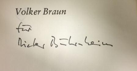 Braun, Volker. Provokation für mich.