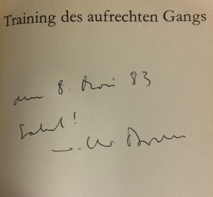 Braun, Volker. Training des aufrechten Gangs.