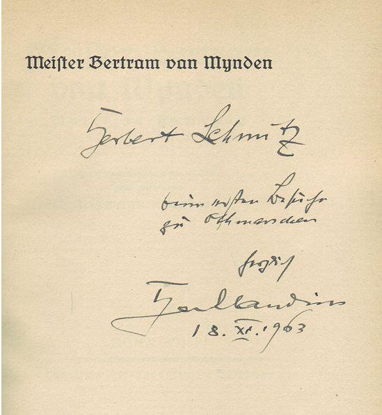 Claudius, Hermann. Meister Bertram van Mynden.