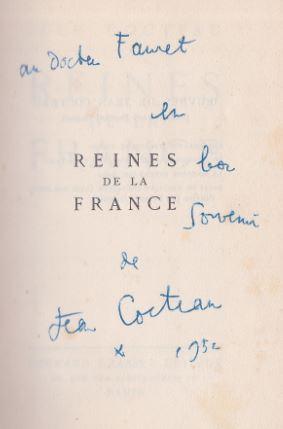 Cocteau, Jean. Reines de la France.