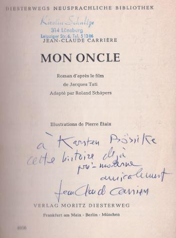 Carrière, Jean-Claude. Mon Oncle.