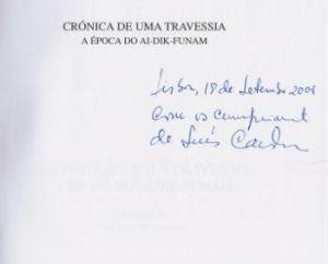 Cardoso, Luís. Crónica de uma travessia.