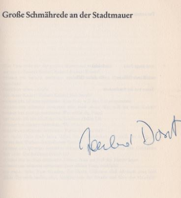 Dorst, Tankred. Große Schmährede an der Stadtmauer. Freiheit für Clemens. Die Kurve.