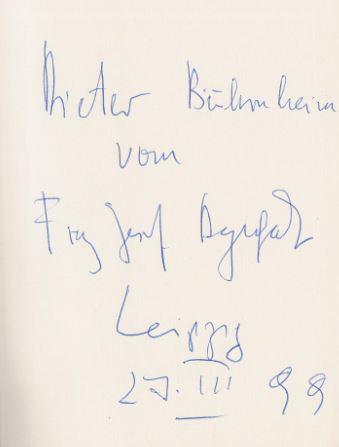 Degenhardt, Franz Josef. Für ewig und drei Tage.