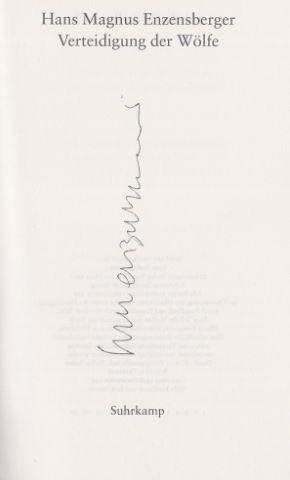 Enzensberger, Hans Magnus. Gedichte. 6 Bände in Kassette.