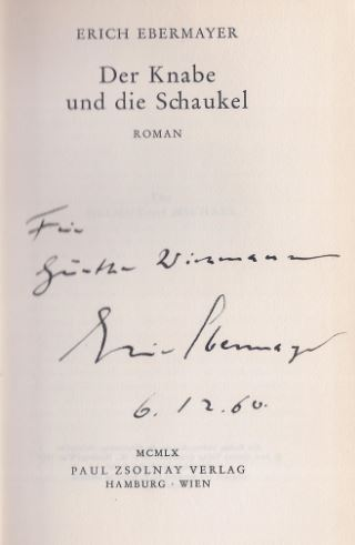 Ebermayer, Erich. Der Knabe und die Schauckel.