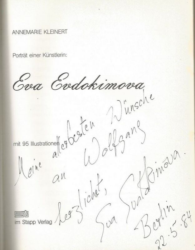 Kleinert, Annemarie. Eva Evdokimova