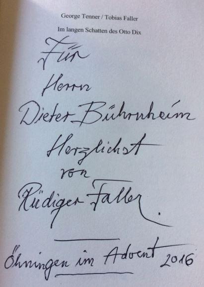 Tenner, George und Tobias Faller. Im langen Schatten des Otto Dix.
