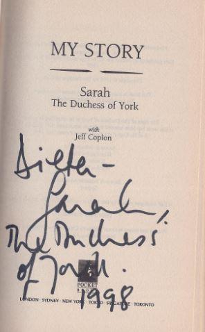 Ferguson, Sarah (Herzogin von and Jeff Coplon. My Story. Sarah. 0