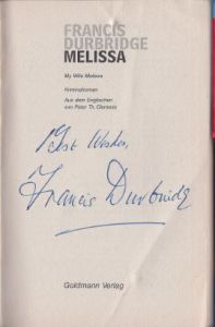 Durbridge, Francis. Melissa.