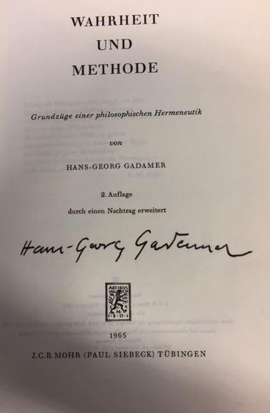 Gadamer, Hans-Georg. Wahrheit und Methode.