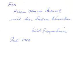 Guggenheim, Kurt. Nachher.