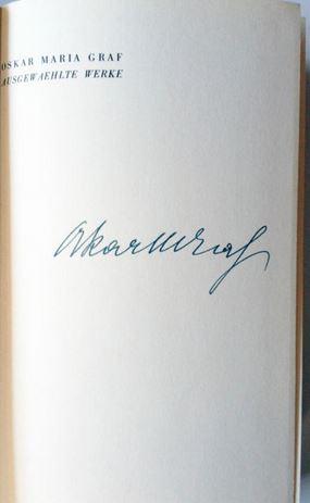 Graf, Oskar Maria. Anton Sittinger.