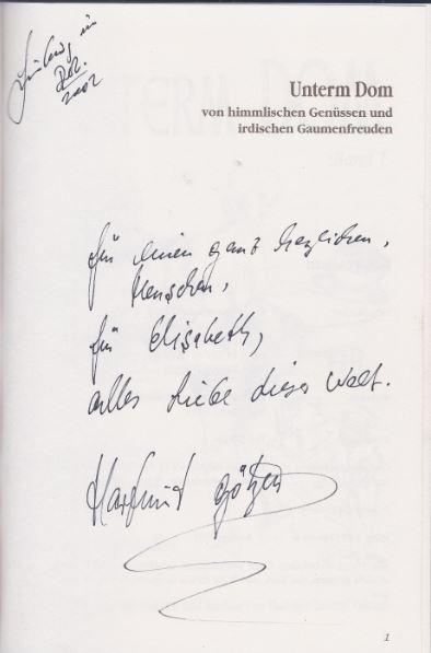 Götzen, Hartmut. Unter Dom. Band I.