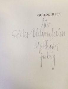 Gubig, Matthias. Stehsatz.