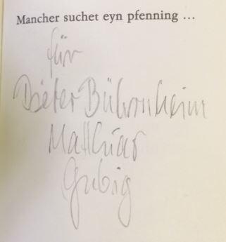 Haustein, Heinz-Dieter und Matthias (Illustrator) Gubig. Mancher suchet eyn pfennig ...