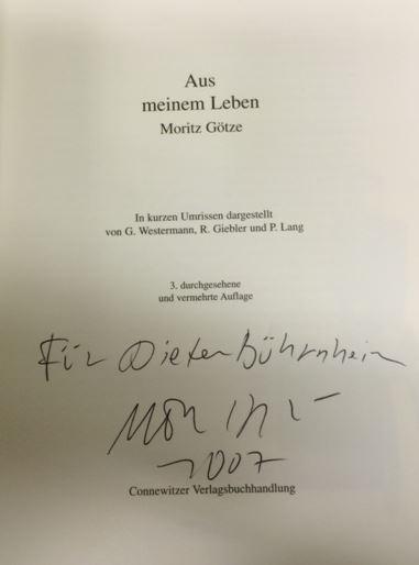 Götze, Moritz, Gerd Westermann und Rüdiger Griebler. Aus meinem Leben.