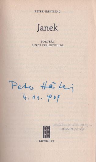 Härtling, Peter. Janek.