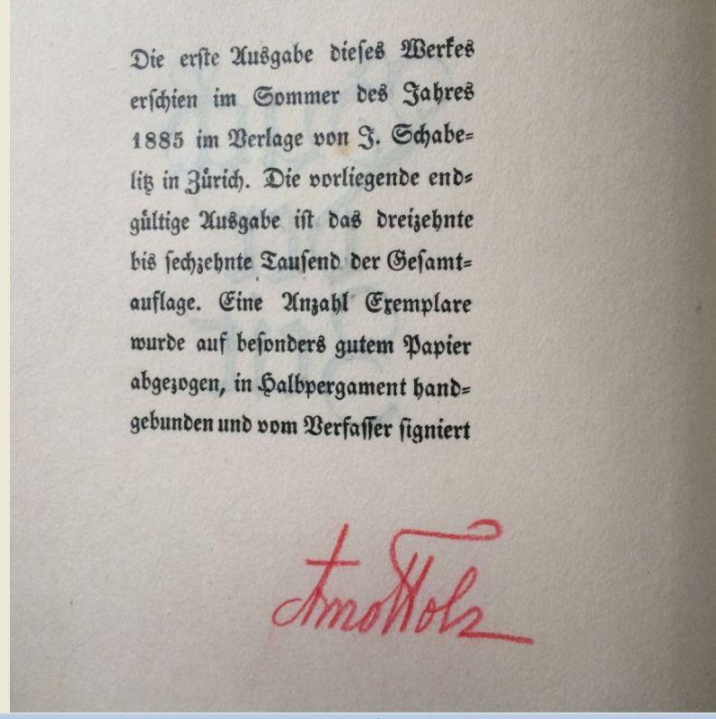Holz, Arno. Buch der Zeit.